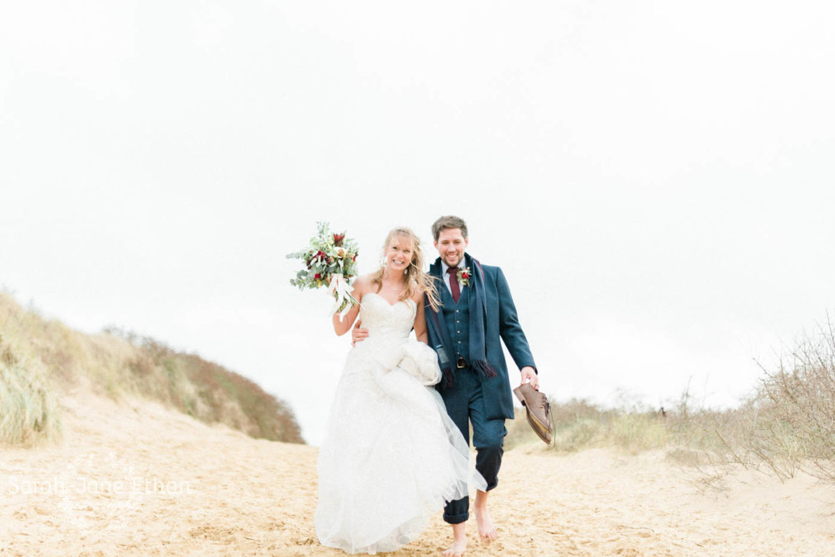 Real bride winter wedding