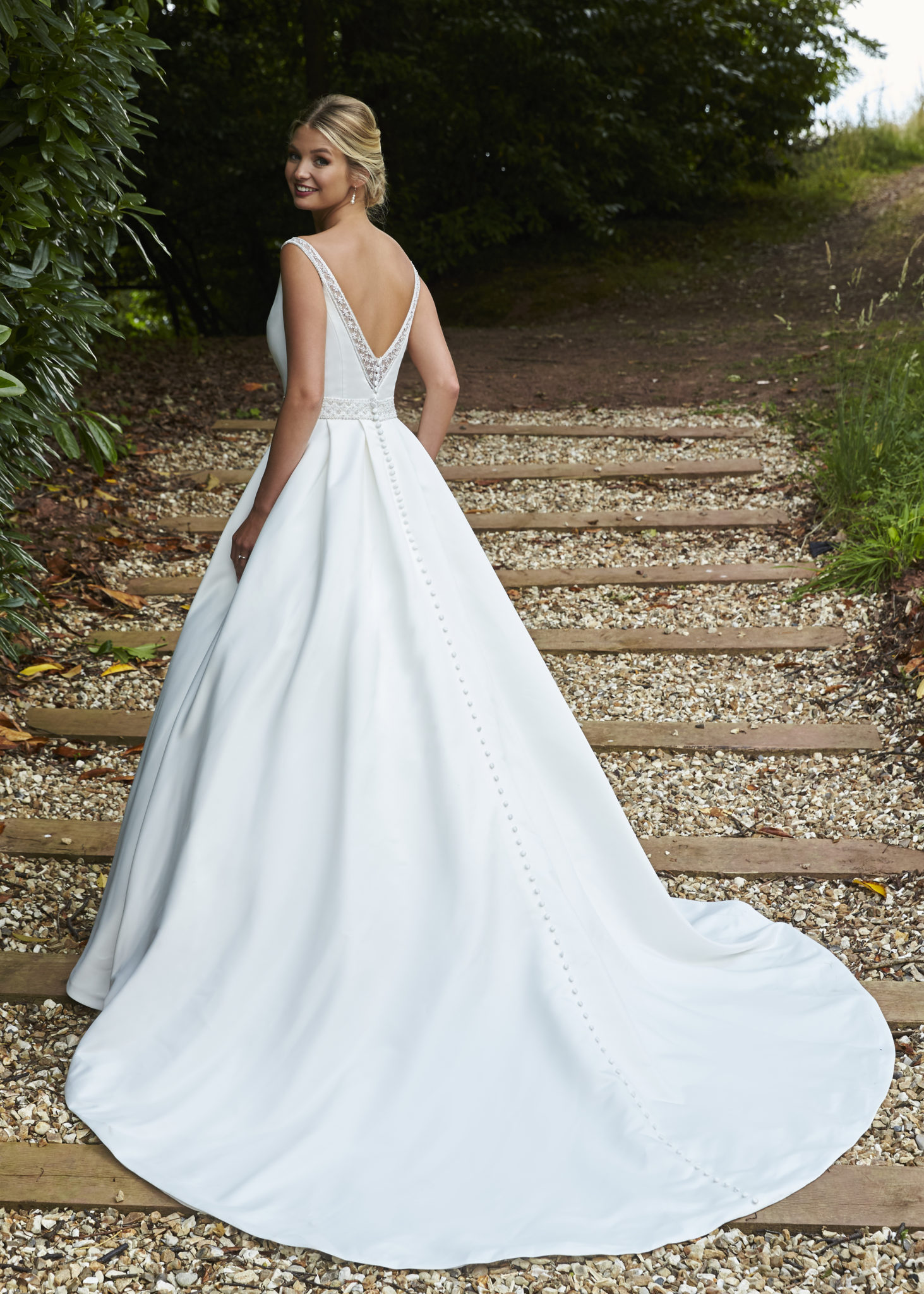 a sophisticated bridal ballgown
