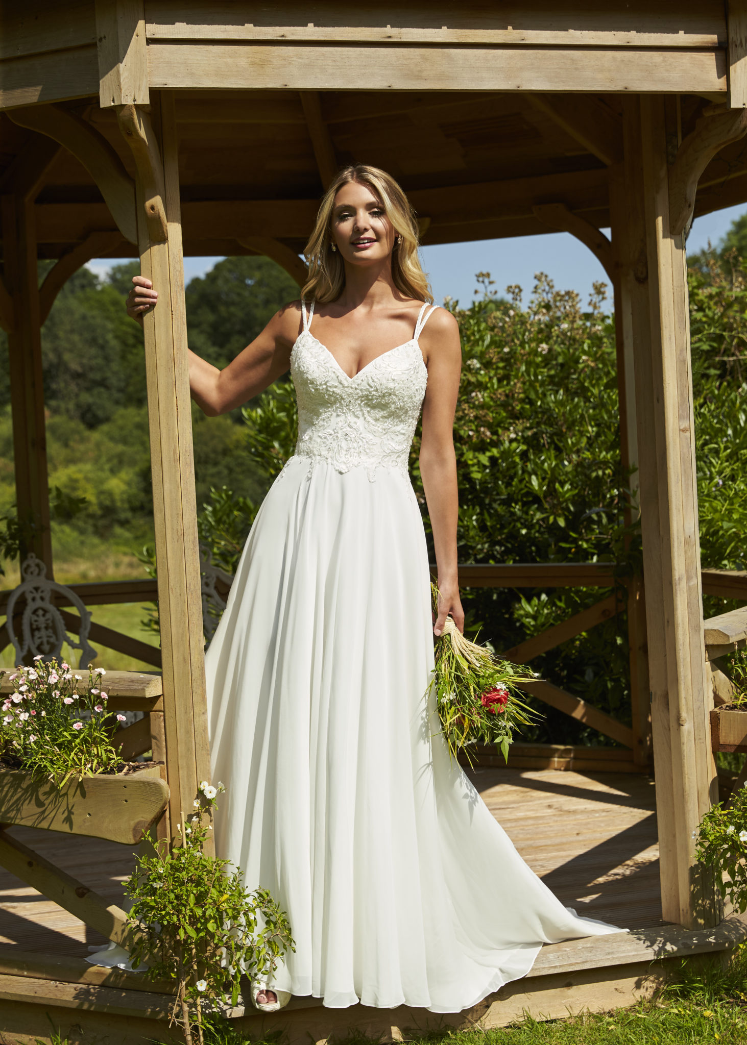 ethereal a line wedding dress