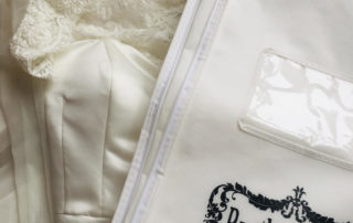 wedding dress and storage bag
