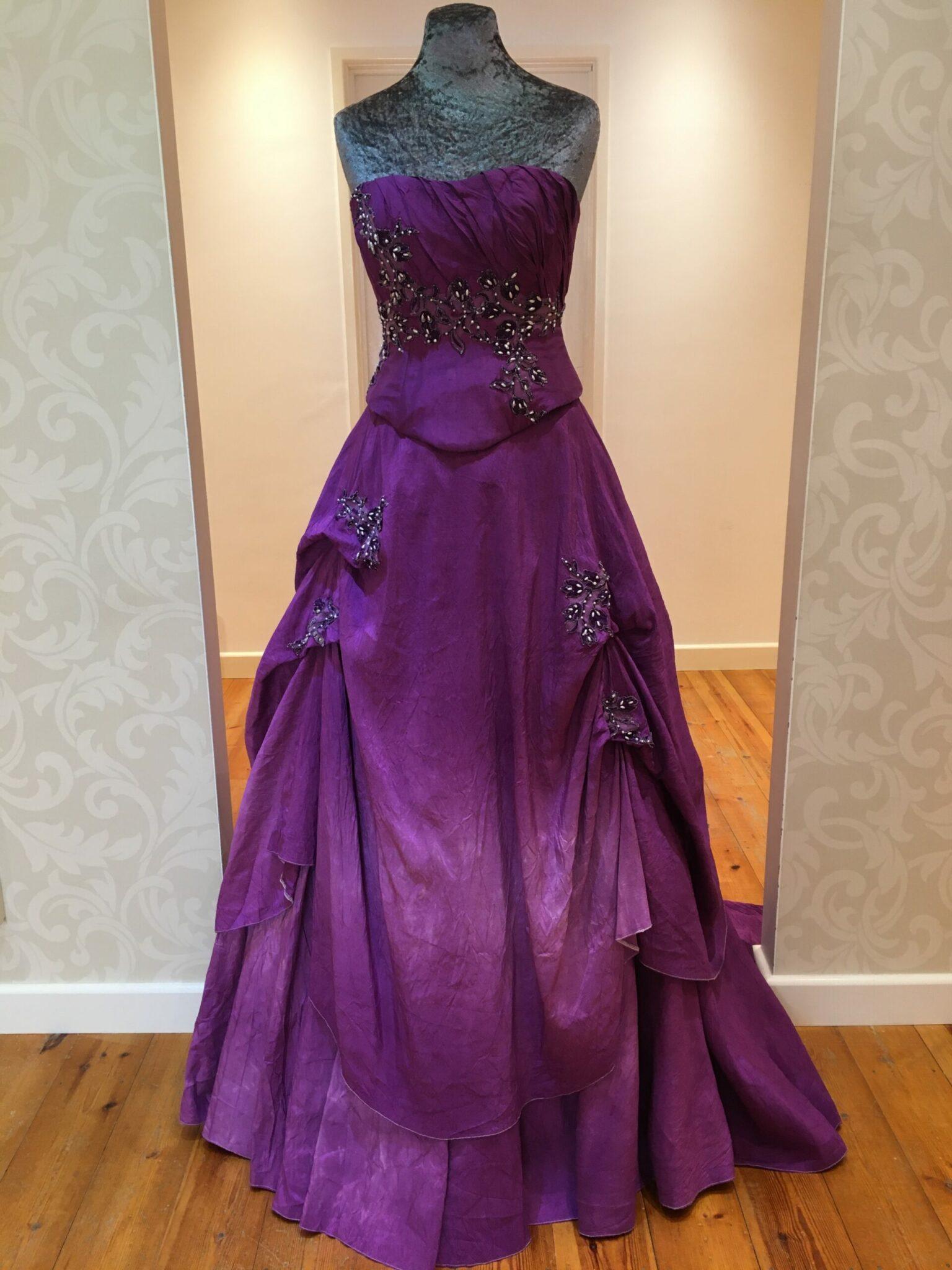 Vintage purple wedding gown